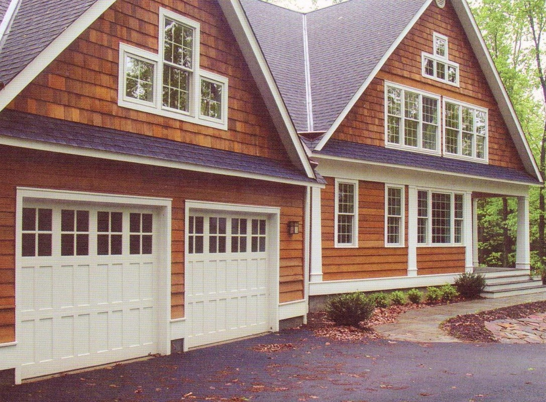 almond raised sunrise inc madison garage decorative doors residential w door gallery panel inserts chi woodworks